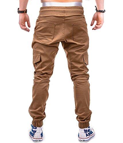 BetterStylz MasonBZ Cargo Chino Jogger Pants Harem Style Trousers in various Colors (S-XXXL) (XXX-Large, Camel)