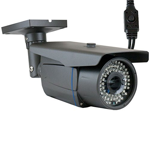 GW Security VDG400WHD 1200TVL 1/3-Inch Color Sony CMOS Outdoor Security Camera with 2.8-12 mm Manual Zoom Lens for Analog Surveillance System