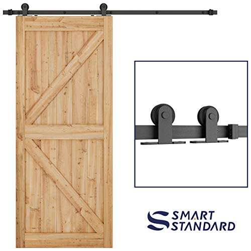 6.6ft Heavy Duty Sturdy Sliding Barn Door Hardware Kit - Super Smoothly and Quietly - Simple and Easy to Install - Includes Step-by-Step Instruction -Fit 36