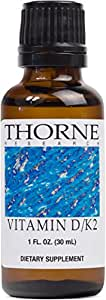 Thorne Research - Vitamin D/K2 Liquid (Metered Dispenser) - Dietary Supplement with Vitamins D3 and K2 to Support Healthy Bones and Muscles - 1 fluid ounce (30 mL)