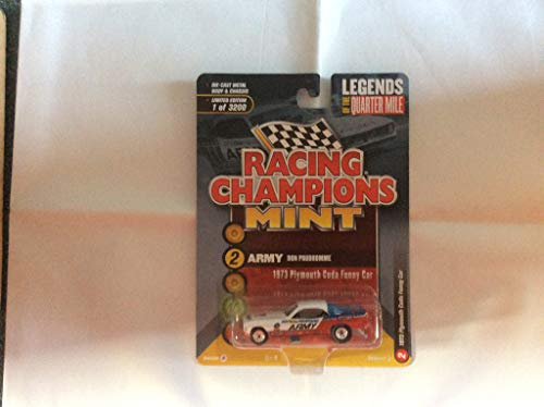 1973 Plymouth Cuda Funny Car U.S. Army Don The Snake Prudhomme Limited Edition to 3,200 Pieces Worldwide 1/64 Diecast Model Car by Racing Champions RCSP004 from Racing Champions