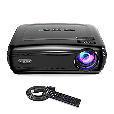 Projector, GuDee Full HD Video Projector for Business PowerPoint Presentations, 1080P Home Movie Projector for Laptop, Smartphone, Fire TV Stick, PS4, HDMI, USB