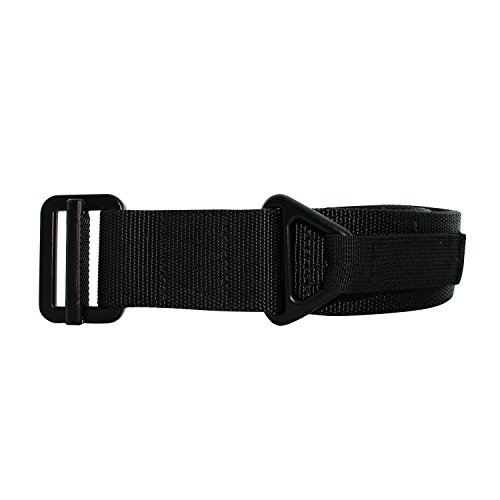 CQB Riggers Belt with Stainless Steel Buckle - Nylon Tactical Military Belt With Adjustable Waistband and High-Strength Buckle - Ideal for Pouches and Attachments (Large) (Arms Belt Buckle)