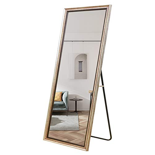 Leafmirror Full Length Mirror Rectangle Floor Leaner Mirror Free Standing Hanging Dressing -