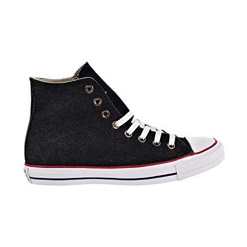 Converse Chuck Taylor All Star Denim HIGH TOP Sneaker Black/White/Brown 4 M US -