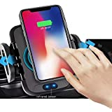 Qi Wireless Car Charger mount, Infrared Sensor Automatic Clamping Car Phone Mount, Car Wireless Charger, Cell Phone Holder For Car Air Vent, Iphone Qi Charger And Samsung Qi Charger