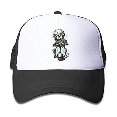 Boys&Girls Skull Motocross Mesh Hat Summer Snapback Baseball Caps Adjustable Trucker Caps