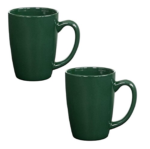 Endeavor Ceramic Coffee & Tea Mug, Green 14 oz (Pack of (Green Stoneware Mug)
