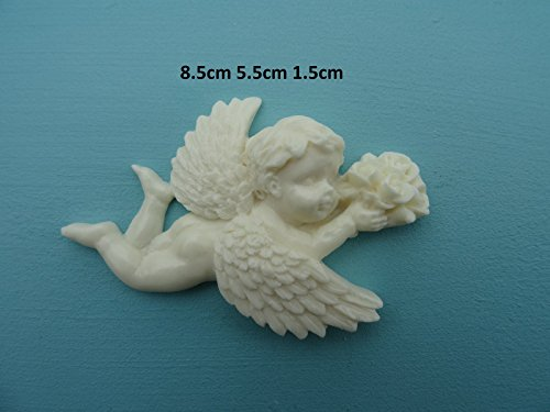 Decorative cherub applique onlay furniture moulding M10 ()