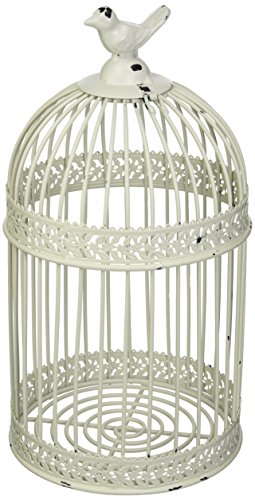 Country Cottage Distressed Metal Bird Cage Cork Holder by Tw