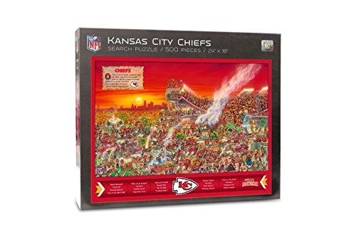 Joe Journeyman 9029700 Kansas City Chiefs Seek & Find Adventure Puzzle, Multicolor