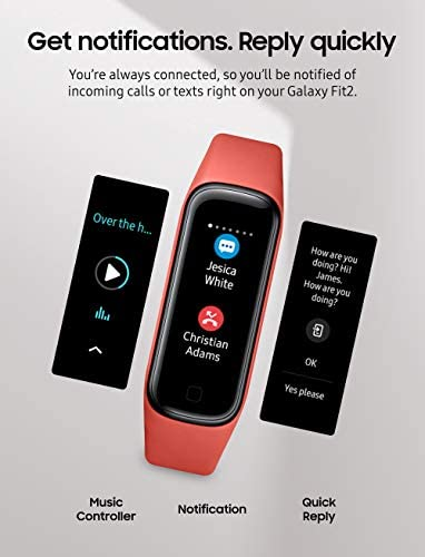 Samsung Galaxy Fit 2 Bluetooth Fitness Tracking Smart Band – Scarlet (US Version) 6