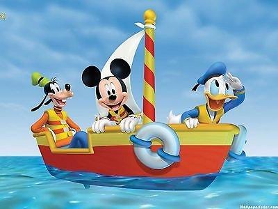 cakeusa Mickey Mouse Goofy Donald Boating vela Cumpleaños 1 ...