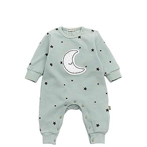 - Bebone Baby Boy Girl Star Cotton Romper(Green,3-6M)
