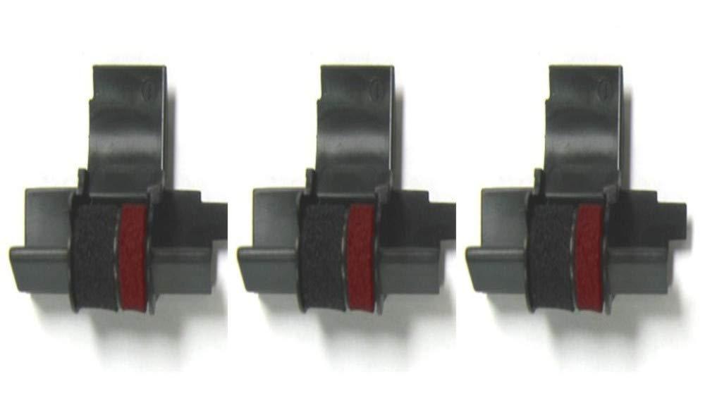 (3 Pack) Sharp EL-1750V Sharp EL-1801V Calculator Ink Roller, Black and Red, Compatible, IR-40T 41hzy0h2BqWL