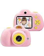 كاميرا ألعاب للأطفال من سن 3-6 سنوات، كاميرات صغيرة للأطفال، هدية لعمر 5-10 سنوات، كاميرا فيديو عالية الدقة 8 ميجا بكسل، لون وردي (بطاقة F غير متضمنة)