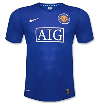 dfc6b76f2 Nike Mens Manchester United 40th Anniversary Shirt in Blue (Small)   Amazon.co.uk  Clothing