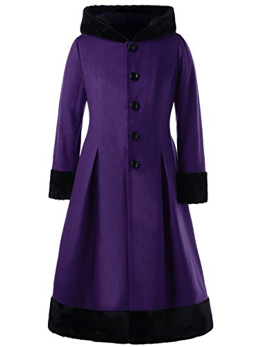 hooded dress coat - 8