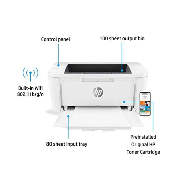 HP Laserjet Pro M17w Single Function Wireless Laser Printer 2