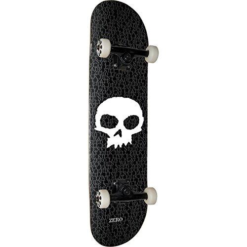 Zero Skateboards Single Skull Black / White Complete Skateboard – 8″ x 32″