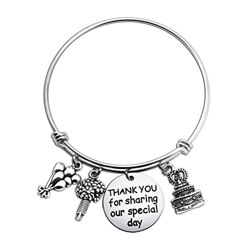 Thank You for Sharing Our Special Day Expandable Wire Bracelet Bangle Party Favor Gift for Wedding or Birthday (wedding favor gift) by WUSUANED
