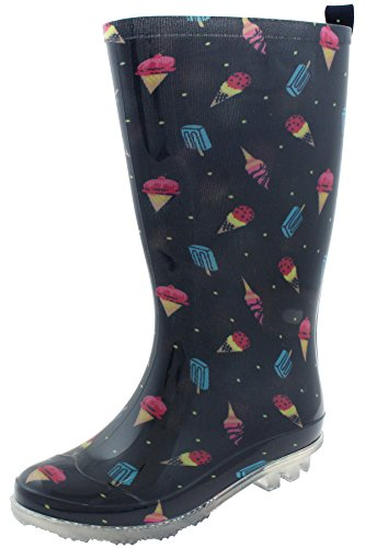 Capelli Printed Cone Rain Jelly York New Emoticons Boots Girls Navy BIxqIrpw