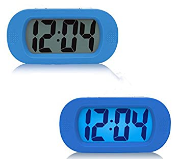 Despertador Reloj con Alarma, Reloj Despertador Perezoso, Moon mood Simple Grande LCD Pantalla Reloj Despertador Digital con Función Snooze/Luz Nocturna ...
