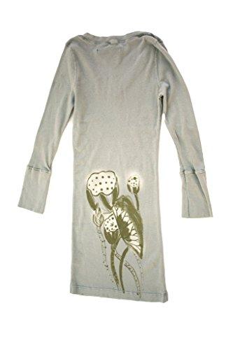 Ku - Camiseta de manga larga - para mujer Gris Claro