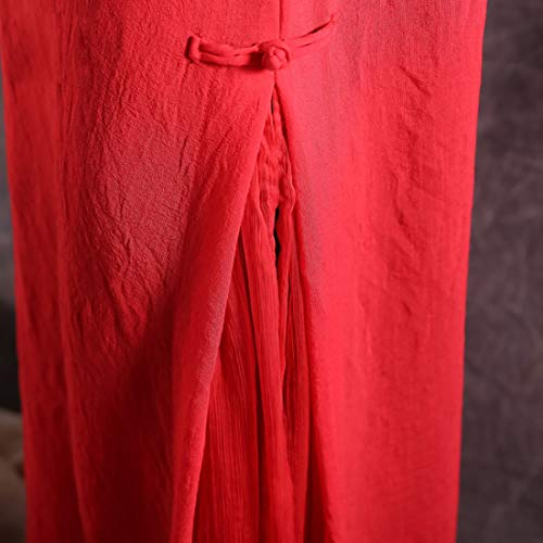 Mallty A Xl Pezzi color Maxi Girocollo Red Size Senza Dress Swing Red Due Maniche 6BBUrx