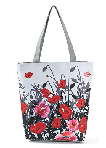 (Nawoshow Fashion Women Cartoon Satchel Shoulder Bag Handbags Shopping Tote Bags (Flower#1))