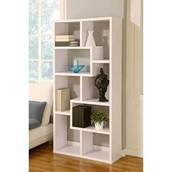 Masima Unique Bookcase Display Cabinet in White