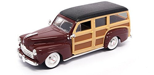 1948 Ford Woody, Burgundy - Yatming 94251 - 1/43 Scale Diecast Model Toy Car ()