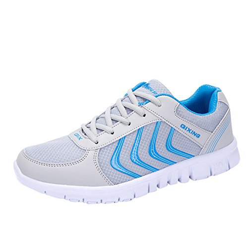 Women's Athletic Breathable Sneakers Sports Light Running Shoes Outdoor Walking (6.5, Grey)