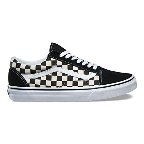 Vans Unisex Old Skool (Primary Check) Blackwhite Vn0a38g1p0s Mens 7, Womens 8.5