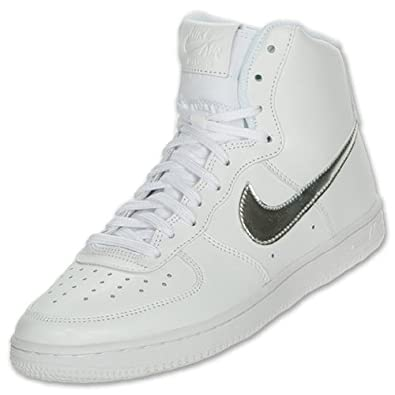Nike Air Force 1 High Women's Casual Shoes (11) White/metallic silver