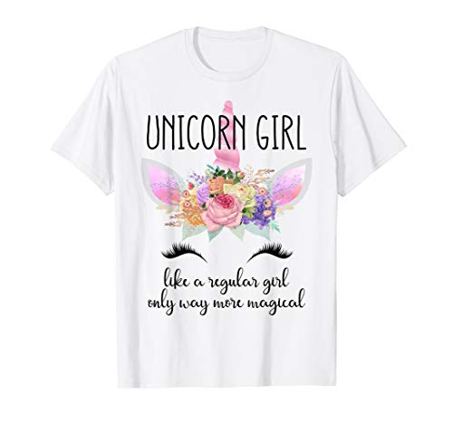 Cute Unicorn Birthday Clothing Gift Shirt Little Girl Adult