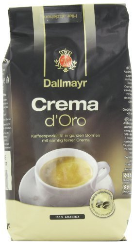 Dallmayr Gourmet Coffee, Crema D'Oro (Whole Bean), 17.6-Ounce Vacuum Packs (Pack of 2) by (Doro Whole Beans)