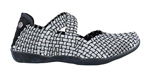 [Women's Bernie Mev, Champion Slip on casual Shoe BLACK SILVER 3.9 M] (Criss Cross Mary Jane)