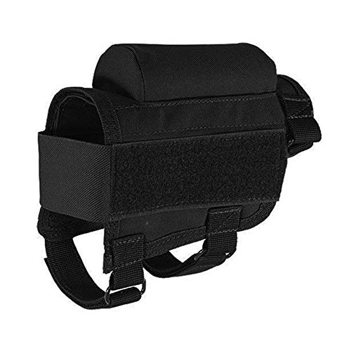Efanr Rifle Buttstock, Adjustable Tactical Rifle Cheek Rest Pouch Holder Ammo Carrier Case for Hunting Rifle Shooting