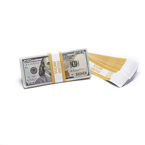 Barred ABA $10,000 Currency Band Bundles (1,000 Bands)