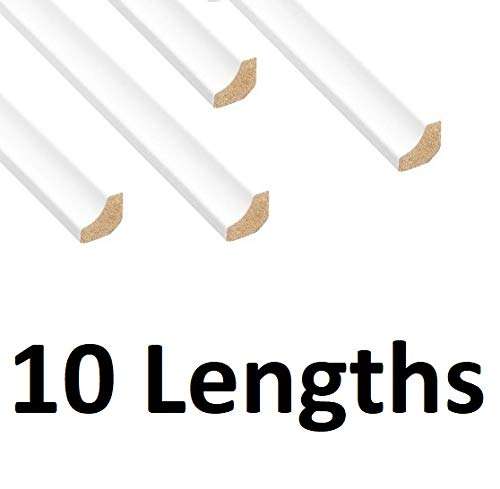 Grandismo – White Scotia/Laminate Floor Beading & Skirting – 2.4m Lengths x 10 Lengths – Paintable/Floor Edging Strip