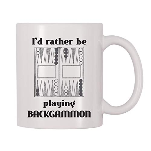 4 All Times Id Rather Be Playing Backgammon Coffee Mug (11 oz)