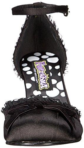 Heels Black Flapper Dress shoes Burlesque Satin Retro Fancy Club r0AOqxrw