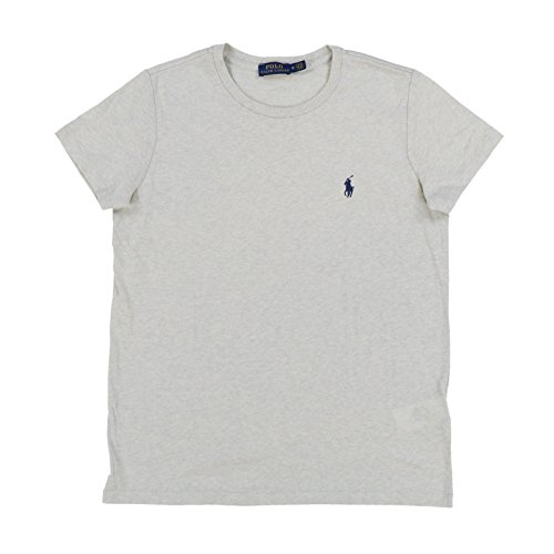 Polo Ralph Lauren Womens Crew Neck Jersey T-Shirt (L, Gray) (Womens Ralph Lauren Sale)