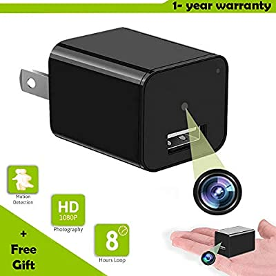 Hidden Spy Camera [Newest model] Smart Mini Spy Charger With Motion Detection and Loop Recording - Storage up to 32gb - By Vicksa by Vicksas