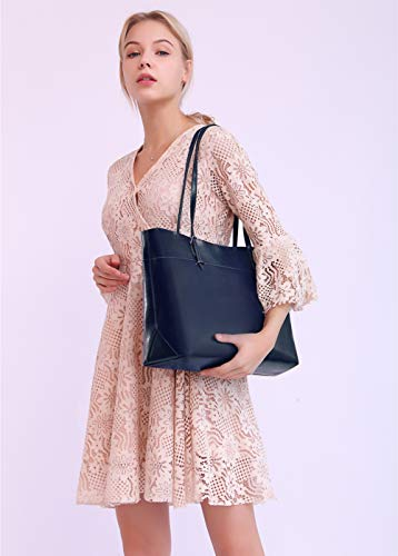 Covelin Women's Handbag Genuine Leather Tote Shoulder Bags Soft Hot Blue by Covelin (Image #1)