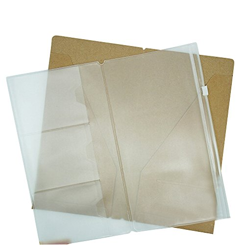 Linshi Tasks Refill Zipper Pocket For Retro Travelers Notebook, Set of 3