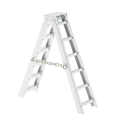 LAFEINA 1:10 Scale RC Rock Crawler Accessories Aluminum Mini Ladder Tools for TAMIYA CC01 Axial SCX10 D90 D110 RC Truck Car Parts ()
