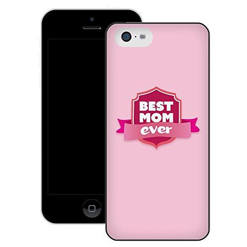 Fête des Mères (Best Mom Ever)   Fait à la main   iPhone 5c   Etui Housse noir