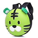 Baby Girls Boys Cartoon Backpack,Byste Tiger Animal Patten Kids School Bag (Green)